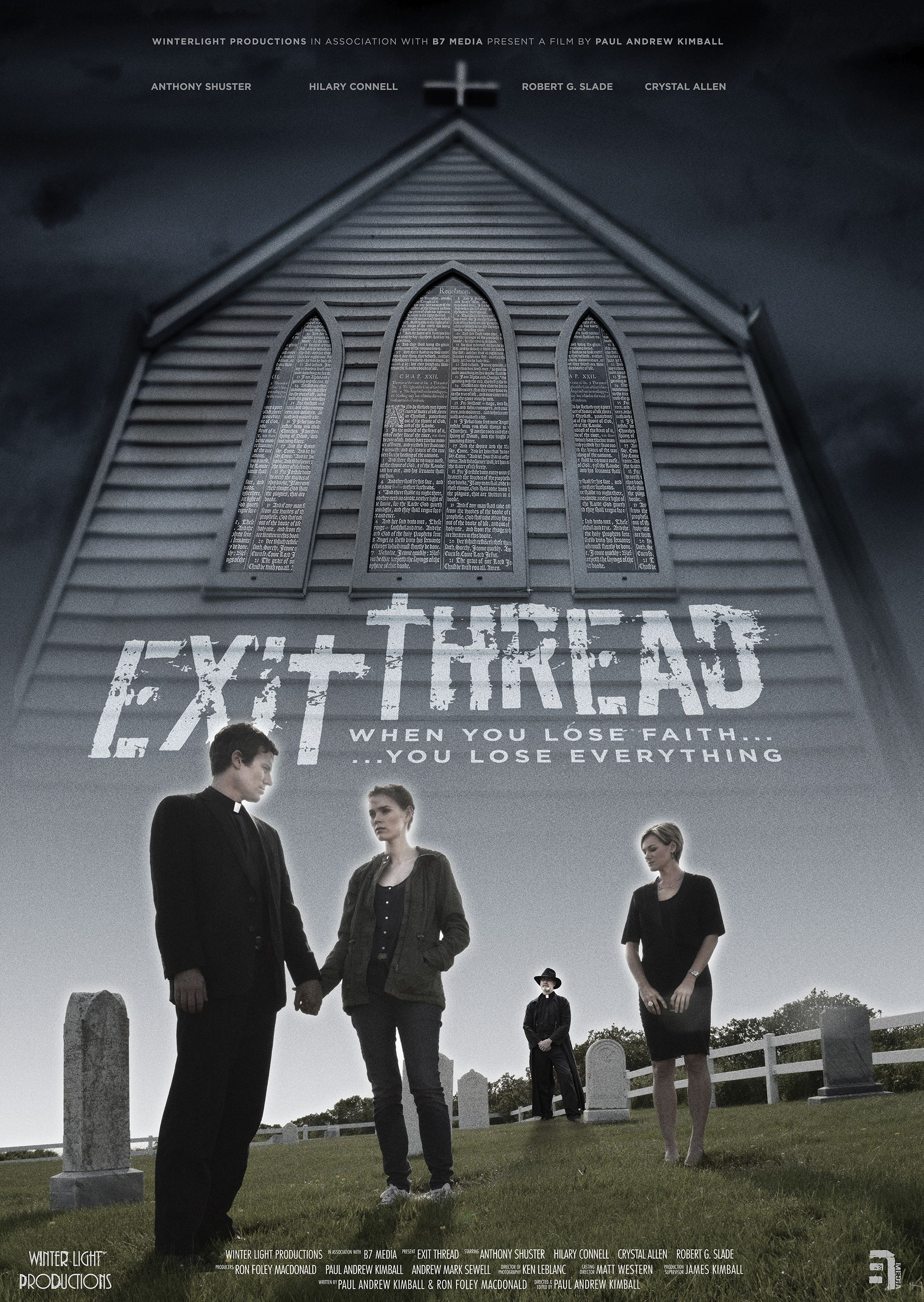The poster for my film Exit Thread, due for release in the Spring of 2016.