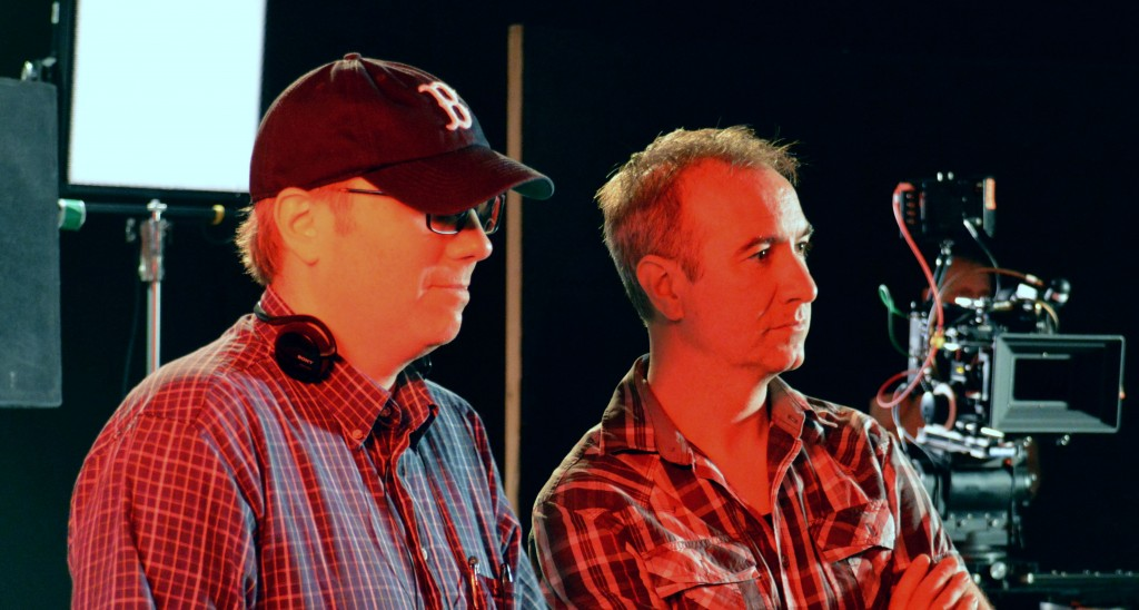 Yours truly on set shooting Exit Thread with DOP Ken LeBlanc.