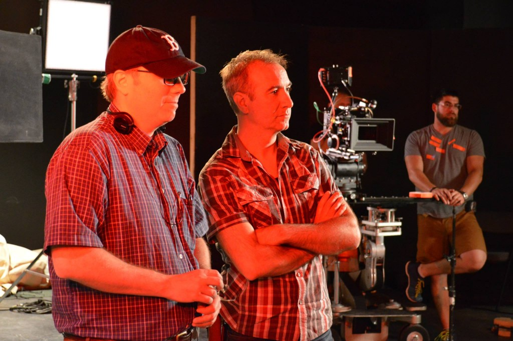 Paul Kimball filming Exit Thread in 2015, with DOP Ken LeBlanc.